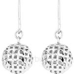 Poh Kong 9K White Gold Glittery Ball Earrings - 650770