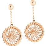 Poh Kong 9K Rose Gold Romance Wheel Dangling Earrings - 894126