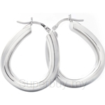 Poh Kong Horseshoe Inspired 18K White Gold Earrings - 813975