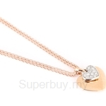 Poh Kong Triple Hearts 18K Rose Gold Diamond Pendant - 280398