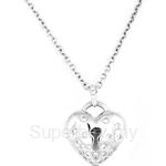 Poh Kong Starry Love Lock 18K White Gold Diamond Pendant - 265685