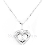Poh Kong Bottom of My Heart 18K White Gold Diamond Pendant - 366830