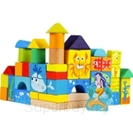 GeNz Kids 50 Pcs Ocean Wooden Blocks - 2113