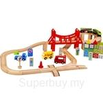 GeNz Kids 56 Pcs Wooden Train Blocks Set - 1201