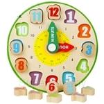 GeNz Kids Wooden Clock with Blocks - 1421