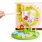 GeNz Kids Magnetic Fishing Game Set (Wooden) - 2501