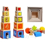 GeNz Kids Wooden Stacking Box - 2431