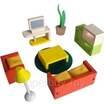GeNz Kids Wooden Mini Furnitures (Living Room & Bedroom Set) - 2537