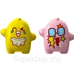Flipper Onolulu Happy & Poppy Toothbrush Holder Yellow / Pink (2 pcs set)