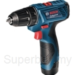 Bosch GSR 120-LI Professional Cordless Drill Driver (with 2 Batteries & Charger) with 23pcs Accessories - 06019F70L0