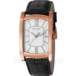 [ANNIVERSARY] Pierre Cardin Pont Des Arts Homme Black Leather Strap Men Watch - PC105391F08