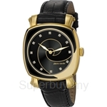 [ANNIVERSARY] Pierre Cardin Freque Black & IP Gold Square Dial Ladies Watch - PC105652F02