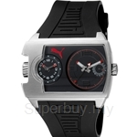 [ANNIVERSARY] Puma Traffic Silver Black Rubber Strap Watch - PU102421004
