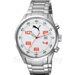 [ANNIVERSARY] Puma Counter Metal Silver White Stainless Steel Men Watch - PU102461003
