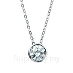 Kelvin Gems Premium RD Wrap Around Pendant Necklace
