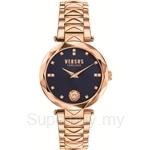 Versus Covent Garden VESCD130016 Stainless Steel IP Rose Gold Bracelet Blue Dial Ladies Watch
