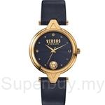 Versus V Versus VESCI100016 Stainless Steel IP Yellow Gold Blue Dial Blue Strap Ladies Watch