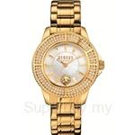 Versus Tokyo Crystal 38mm VESH7230015 Stainless Steel IP Yellow Gold Bracelet Full Swarovski Bezel White Dial Ladies Watch