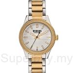 Versus Bayside 38mm VESOJ110015 Stainless Steel 2 Tone IP Yellow Gold Bracelet Silver dial Ladies Watch