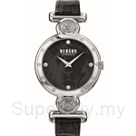 Versus Sunnyridge VESOL020015 Black Dial Black Strap Ladies Watch