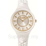Versus Fire Island VESOQ040015 White Dial White Strap Ladies Watch