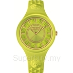 Versus Fire Island VESOQ060015 Yellow Dial Yellow Strap Ladies Watch