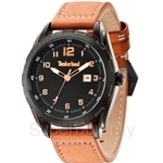 Timberland Newmarket TBL.13330XSB/02A Brown Leather Strap Black Dial Men Watch