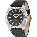 Timberland Rindge Mens Black Yellow Leather Strap Watch TBL.14364JS/02