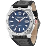 Timberland Rindge Mens Black Leather Strap Blue Dial Watch TBL.14364JS/03