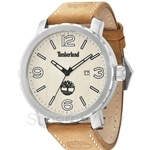 Timberland Pinkerton TBL.14399XS/07 Brown Leather Strap Beige Dial Men Watch
