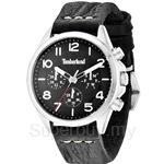 Timberland Barlett TBL.14400JS/02 Black Leather Strap Black Dial Men Watch