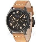 Timberland Bartlett TBL.14400JSU/02 Brown Leather Strap Black Dial Men Watch