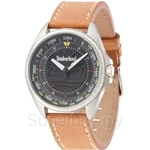 Timberland Sawyer TBL.14505JS/02 Brown Leather Strap Black Dial Men Watch