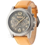 Timberland Pickett TBL.14518JSU/61B Brown Leather Strap Dual Time Men Watch