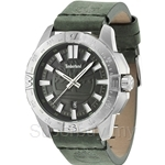 Timberland Litchfield TBL.14532JS/61 Green Leather Strap Black Dial Men Watch