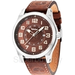 Timberland Tilden TBL.14644JS/12 Brown Leather Strap Brown Dial Men Watch