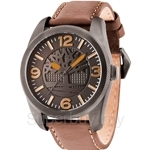 Timberland Bolton TBL.14770JSU/61 Brown Leather Strap Grey Dial Men Watch
