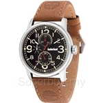 Timberland Erving TBL.14812JS/02 Brown Leather Strap Black Dial Ladies Watch