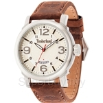 Timberland Berkshire TBL.14815JS/07 Brown Leather Strap White Dial Ladies Watch
