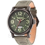 Timberland Berkshire TBL.14815JSB/19 Grey Leather Strap Green Dial Ladies Watch