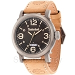 Timberland Berkshire TBL.14815JSU/02 Brown Leather Strap Black Dial Ladies Watch