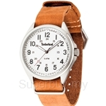 Timberland Raynham TBL.14829JS/01-AS Brown Leather Strap White Dial Ladies Watch