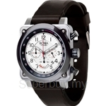 Bonia Black Rubber Strap Men Watch - BNB546-1314C