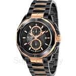 Bonia Two Tone IP Rose Gold IP Black Men Watch - BNB737-1032SE
