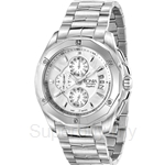 Bonia All Stainless Steel White Dial Chronograph Men Watch - BNB737-1312C