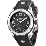 Bonia Black Rubber Strap Black Dial Men Watch - BNB737-1333R