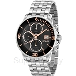 Bonia All Stainless Steel Black Dial Multifunction Men Watch - BNB814-2332