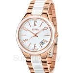 Bonia Two Tone Rose Gold Stainless Steel Ceramic Watch - BNB881-2515