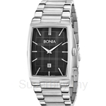 Bonia All Stainless Steel Black Square Dial Men Watch - BNB915-1332