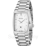 Bonia All Stainless Steel White Square Dial Ladies Watch - BNB915-2312